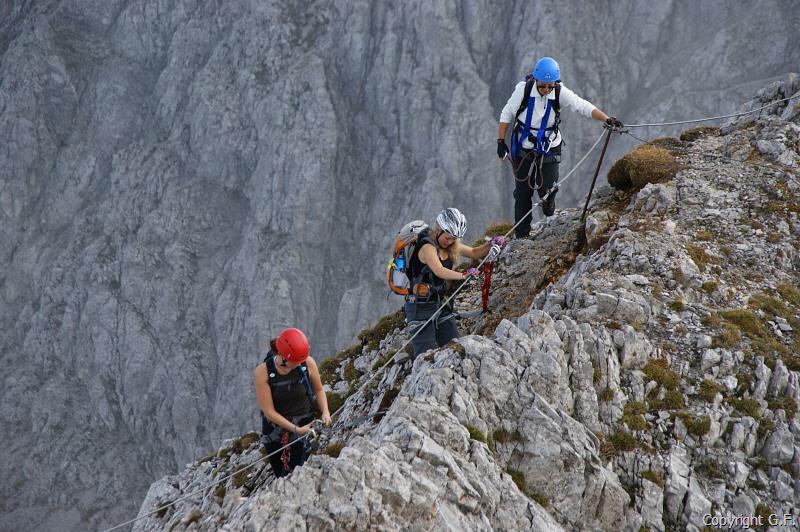 Klettersteig Pfalz : 24.09.2009 nordkette innsbrucker klettersteig